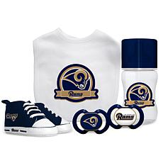 Officially Licensed NFL 5-piece Baby Gift Set - Los Angeles Rams