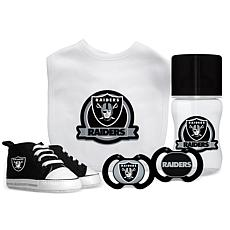 Officially Licensed NFL 5-piece Baby Gift Set - Oakland Raiders