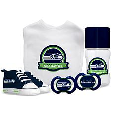 Officially Licensed NFL 5-Piece Baby Gift Set - Seattle Seahawks