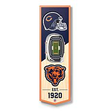 "Officially Licensed NFL 6"" x 19"" 3-D Stadium Banner - Chicago Bears"
