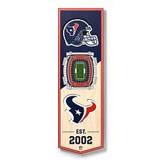 "Officially Licensed NFL 6"" x 19"" 3-D Stadium Banner - Houston Texans"