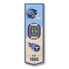 """Officially Licensed NFL 6"""" x 19"""" 3-D Stadium Banner - Tennessee Titans"""