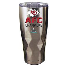 Officially Licensed NFL AFC Champion 22 oz. Diamond Tumbler - Chiefs