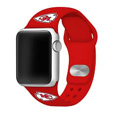 Officially Licensed NFL Apple Watch Sport Band 42/44mm - Chiefs