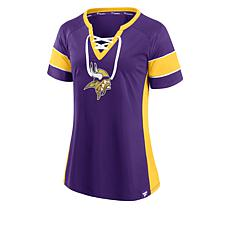 Officially Licensed NFL Athena Lace-Up Fashion Jersey by Fanatics