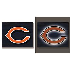 Officially Licensed NFL Backlit Wood Plank Wall Sign - Bears