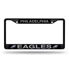 Officially Licensed NFL Black Laser-Cut Chrome License Plate Frame ...