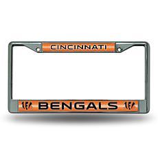 Officially Licensed NFL Bling Chrome Frame - Bengals
