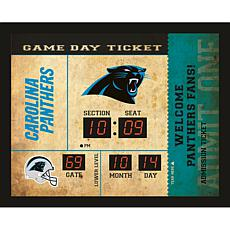 Officially Licensed NFL Bluetooth Scoreboard Wall Clock - Panthers