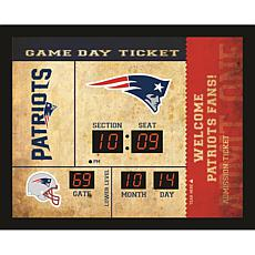 Officially Licensed NFL Bluetooth Scoreboard Wall Clock - Patriots