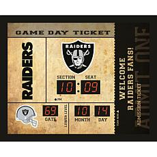 Officially Licensed NFL Bluetooth Scoreboard Wall Clock - Raiders