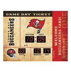 Officially Licensed NFL Bluetooth Wall Clock - Bucs