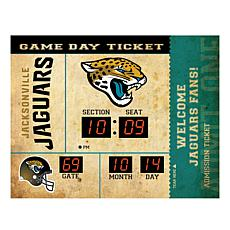Officially Licensed NFL Bluetooth Wall Clock - Jaguars