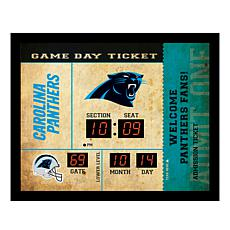 Officially Licensed NFL Bluetooth Wall Clock - Panthers