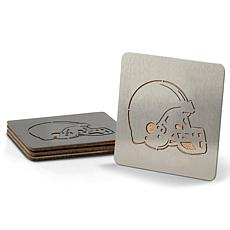Officially Licensed NFL Boasters 4-piece Coaster Set- Cleveland Browns