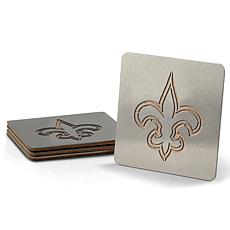 Officially Licensed NFL Boasters 4-piece Coaster Set - NO Saints