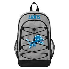 Officially Licensed NFL Bungee Backpack - Detroit Lions