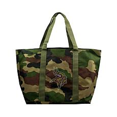 Officially Licensed NFL Camo Tote - Vikings
