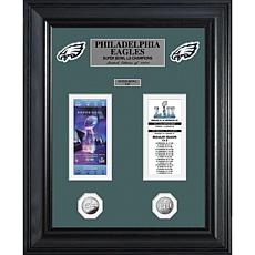 Officially Licensed NFL Champions Gold Coin Ticket Collection - Eag...