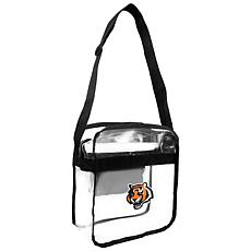 Officially Licensed NFL Clear Carryall Crossbody - Bengals
