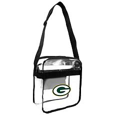 Officially Licensed NFL Clear Carryall Crossbody - Packers