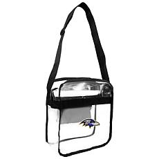 Officially Licensed NFL Clear Carryall Crossbody - Ravens