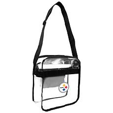 Officially Licensed NFL Clear Carryall Crossbody - Steelers