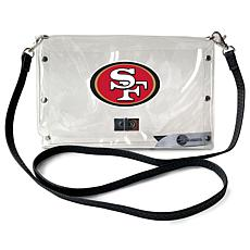 Officially Licensed NFL Clear Envelope Purse - 49ers