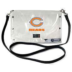 Officially Licensed NFL Clear Envelope Purse - Bears