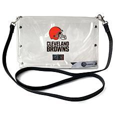Officially Licensed NFL Clear Envelope Purse - Browns