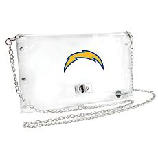 Officially Licensed NFL Clear Envelope Purse - Chargers