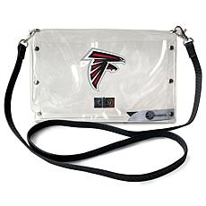 Officially Licensed NFL Clear Envelope Purse - Falcons