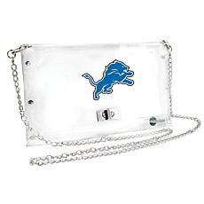 Officially Licensed NFL Clear Envelope Purse - Lions