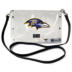Officially Licensed NFL Clear Envelope Purse - Ravens