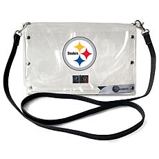 Officially Licensed NFL Clear Envelope Purse - Steelers