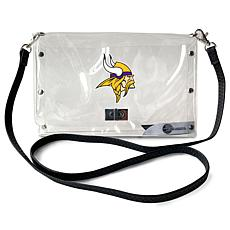 Officially Licensed NFL Clear Envelope Purse - Vikings