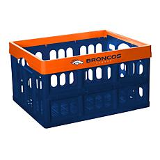 Officially Licensed NFL Collapsible Crate - Denver Broncos