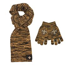 cf10e9a3d2 Officially Licensed NFL Colorblend Scarf and Glove Set by Team Beans