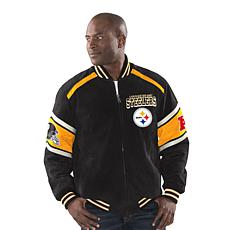 the best attitude bd6a1 9f135 Officially Licensed NFL Colorblocked Suede Jacket by Glll