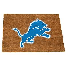 Officially Licensed NFL Colored Logo Door Mat - Lions
