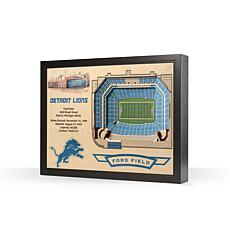 Officially Licensed NFL Detroit Lions 25-Layer StadiumView 3D Wall Art