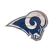 Officially Licensed NFL Distressed Logo Wall Art Cutout