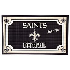 Officially Licensed NFL Embossed Door Mat - Saints