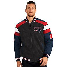 Officially Licensed NFL Faux Suede Full-Zip Jacket by Glll