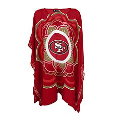 "Officially Licensed NFL ""Flower"" Caftan - San Francisco 49ers"