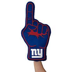 Officially Licensed NFL Foam Finger Plush Pillow - New York Giants