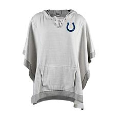 Officially Licensed NFL Heathered Hoodie Poncho - Indianapolis Colts