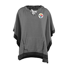 half off c7fa9 8617c Officially Licensed NFL Heathered Hoodie Poncho - Pittsburgh Steelers