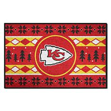 Officially Licensed NFL Holiday Sweater Starter Mat- Chiefs