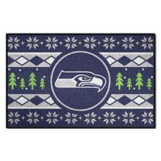 buy online 61702 8fbd0 Officially Licensed NFL Holiday Sweater Starter Mat- Seattle Seahawks